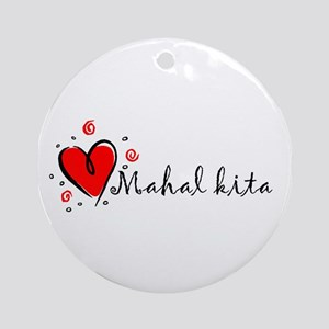 """I Love You"" [Tagalog] Ornament (Round)"